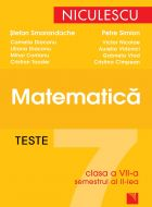 Matematica - Teste pentru clasa a VII-a semestrul II