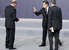 Traian Basescu si Nicolas Sarkozy, la Lisabona