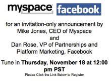 Myspace Facebook Invitatie / Mashable