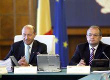 Traian Basescu si Emil Boc. Foto: gov.ro
