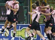 bucuria jucatorilor lui Palermo / football.co.uk