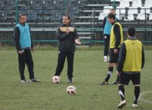 Ionut Badea la primul antrenament cu