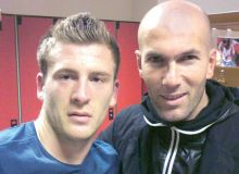 Silviu Ilie si Zinedine Zidane/prosport.ro