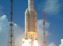 Ariane 5 decoland pe 14 mai 2009, avand la bord satelitii Herschel & Planck / Arianespace