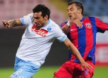 Faza din meciul tur Steaua - Napoli 3-3 / romaniansoccer.ro
