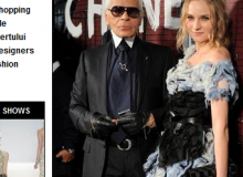 Diane Kruger si Karl Lagerfeld / captura site ELLE