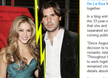 Shakira si Antonio De La Rua / captura site JustJared