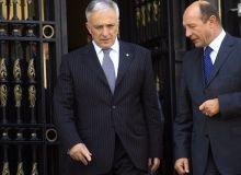 Traian Basescu si Mugur Isarescu