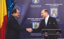 Vasile Blaga si Traian Basescu
