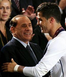 Silvio Berlusconi si Cristiano Ronaldo