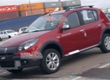 Dacia Sandero Stepway facelift, surprins in trafic in Brazilia.jpg