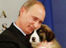 Putin, cu cainele de paza.