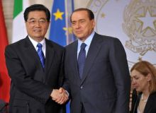 Hu Jintao si Silvio Berlusconi/zimbio.com.jpg