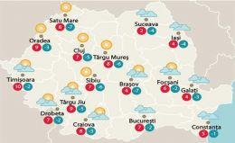 Temperaturile zilei de vineri