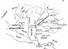 Harta Europei centrale la aparitia triburilor ungare/Octavian Capatana