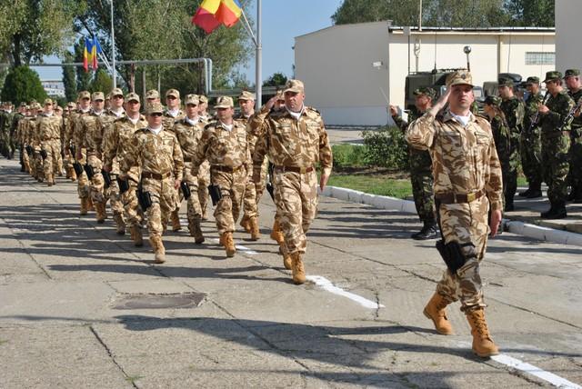 Ceremonie de repatriere a militarilor români morți în Afganistan