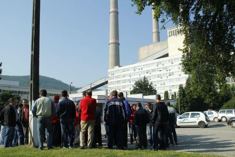 Hunedoara: Protest spontan la termocentrala Mintia