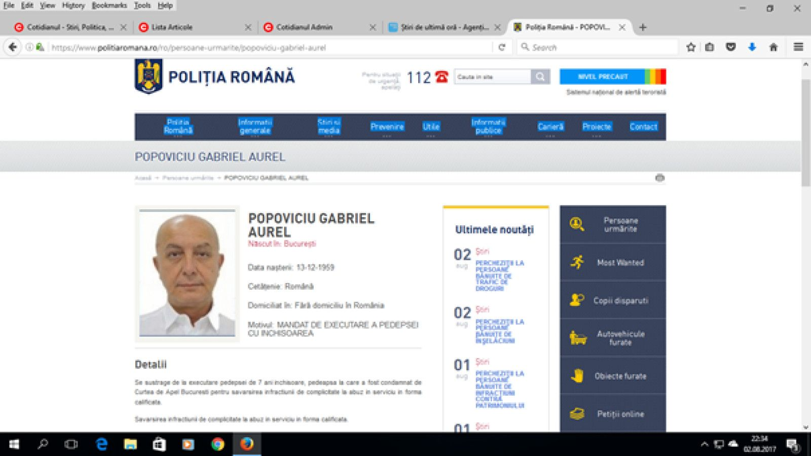 Nedumerirea ministrului Justiției în ce-l privește pe Puiu Popoviciu