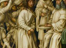 Hans Holbein, Graue Passion, Christus vor Pilatus/artdaily.org