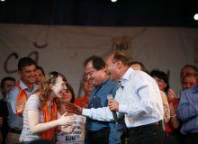 Vasile Blaga, la un miting electoral/pdl.org.ro