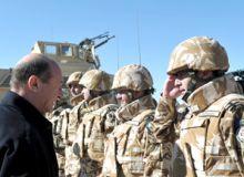Traian Basescu in Afganistan
