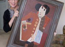 Enid Leiss si tabloul semnat de Roy Lichtenstein/artdaily.org