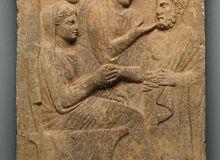 Piatra funerara greceasca/getty.edu