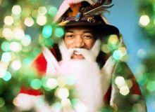 Chitaristul Jimi Hendrix in rol de Mos Craciun