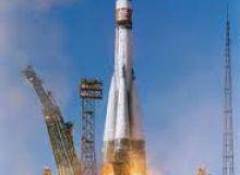 O racheta Soyuz intr-o misiune de amplasare pe orbita a unui satelit