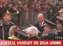 Basescu, huiduit la Focsani