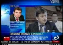 Crin Antonescu si Daniel Constantin / captura You Tube