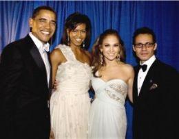 Barack si Michelle Obama alaturi de J-Lo si de Mark Anthony