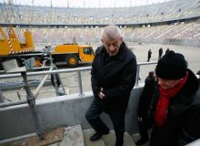 Sorin Oprescu si Mircea Sandu in inspectie la