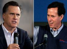 Mitt Romney si Rick Santorum/sky.com.jpg