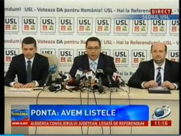 Conferinta de presa a liderilor USL
