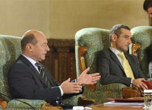 Traian Basescu si Sebastian Lazaroiu.Foto: presidency.ro