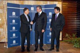 Pierre Lellouche, Teodor Baconschi si Eric Besson. Foto: MAE.ro