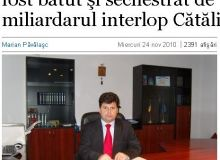 Petrica Munteanu, seful Vamii Galati/captura site Adevarul