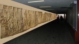 Pasajul Latin va fi decorat cu un material reprezentand harta Impreiului Roman din timpul lui Traian
