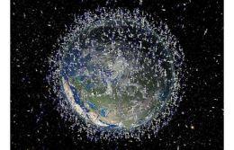Un desen care arata gunoaiele din jurul planetei noastre.