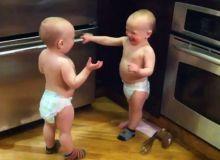 Doi bebelusi pusi pe cearta