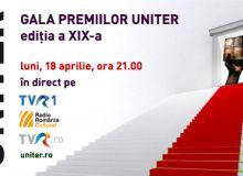 Gala Uniter, de la ora 21.00, pe TVR 1