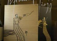 Afisul expozitiei de la sala Dalles