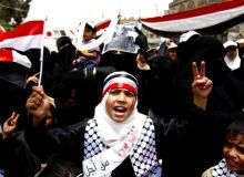 Protest al femeilor din Yemen/lefthandofeminism.wordpress.com