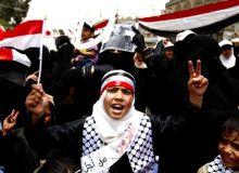 Protest al femeilor din Yemen/lefthandofeminism.wordpress.com