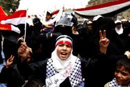 Protest al femeilor din Yemen