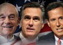 Ron Paul, Mitt Romney si Rick Santorum/CBC News.jpg
