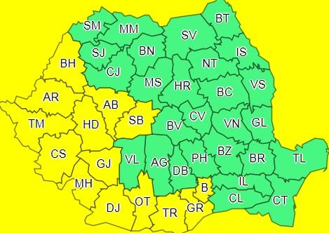 ANM a instituit Cod galben de caniculă în 13 județe și în București, marți și miercuri