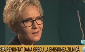 Dana Grecu RUPE TĂCEREA: Motivul care a determinat-o să renunțe la emisiunea zilnică de la Antena 3