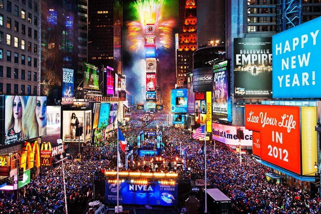 Două milioane de persoane, aşteptate în Times Square de Revelion